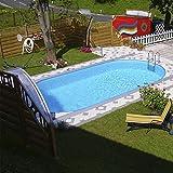 Steinbach Set Styria Oval Stahlwandpool 13800 weiss 490 x 300 x 120 cm