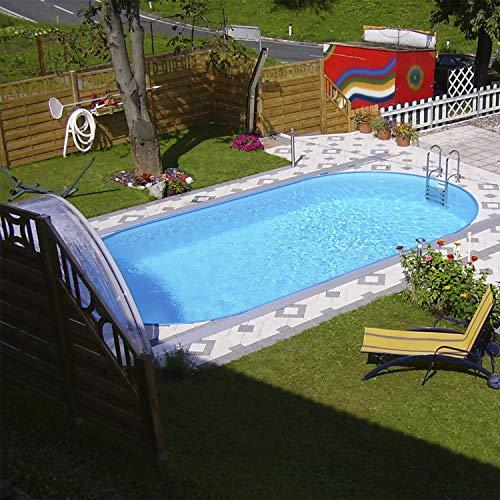 Steinbach Styria Stahlwandpool Set, oval, 625 x 360 x 150 cm, 012270