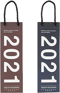 Toyvian 2pcs 2021 Hanging Calendar Wall Schedule Calendar Rope Hanging Writing Planner Calendar 2020.11-2021.12 Calendar f...