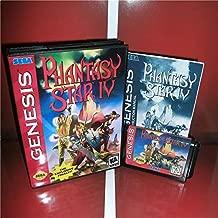 Phantasy Star 4 US Cover with Box and Manual For Sega Megadrive Genesis Video Game Console 16 bit MD card - Sega Genniess - Sega Ninento, 16 bit MD Game Card For Sega Mega Drive For Genesis