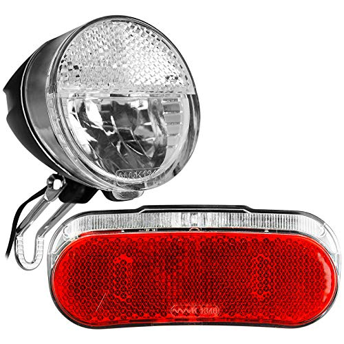TW24 Fahrrad Dynamo Beleuchtungsset Rückleuchte Frontleuchte StVZO-Zulassung Fahrradbeleuchtung Fahrradlicht Set Fahrradleuchte