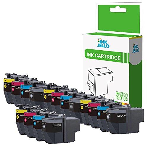 InkJello - Cartucho de Tinta de Repuesto para Impresora Brother MFC-J5330DW MFC-J5335DW MFC-J5730DW MFC-J5930DW MFC-J6530DW MFC-J6930DW MFC-J6935DW LC3219XL (BK, C, M, Y, 16 Unidades)