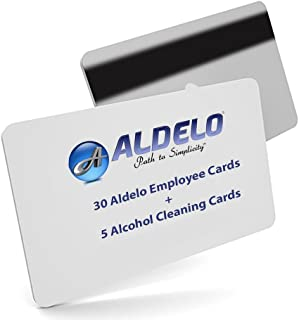 30 Aldelo POS Server Swipe Cards - 30 Cards + 5 Alcohol Cleaning Cards for Your Card Swipe