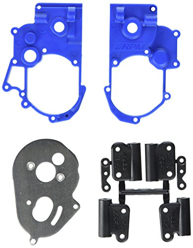 RPM Hybrid Gearbox Housing and Rear Mounts for Traxxas 2WD Electric, Blue