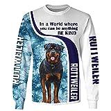 Rottweiler - Sudadera con capucha para hombre, diseño de perro en 3D, Sudadera, XXL