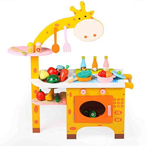 Jouets FEI Enfants Simulation Cuisine Cuisine en Bois Ensemble pour 3-5 Ans Cadeau d'anniversaire Début Éducation (Couleur : A)