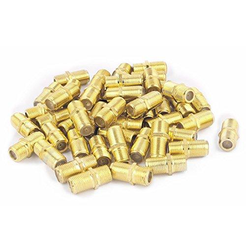 Aexit 50Pcs Vergoldete f-Buchse auf Buchse gerade RF Coax TV-Adapter-Anschlüsse (e51a0aa54c3145b8d1aff27dae9105b0)