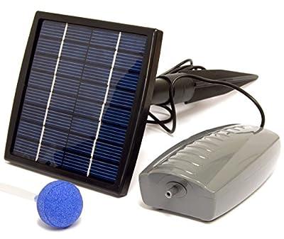 Woodside Solar Oxygenator Air Pump for Pond - 1.5W Aerator 1 Air Stone Oxygen Pump for Garden, Aquarium Fish Tank from Woodside