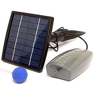 Woodside Solar Oxygenator Air Pump for Pond – 1.5W Aerator 1 Air Stone Oxygen Pump for Garden, Aquariu...