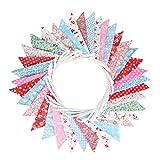 [page_title]-Süße Beidseitig Wimpel Girlande, 10M Bunting Wimpelkette mit 36 STK Farbenfroh Wimpeln für Hochzeits Geburtstag Party