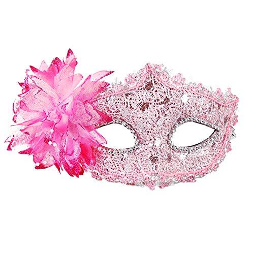 Belle vénitienne Jolie Masquerade Masque des yeux Fancy Dress Accessoire Rose