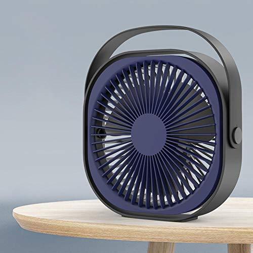 N/C Desktop Silent Fan,Creative Mini Fan 6 Inch Usb Charging Fan,360° Adjustable 3 Modes Portable Desktop Fan Handle For Travel Office Room Household Blue