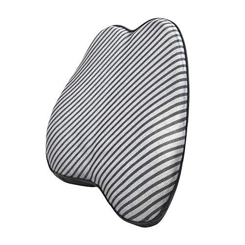 AmazonBasics - Cuscino lombare di supporto, in memory foam, a righe