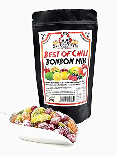 BONBON MIX BEST OF CHILI - von mild zu extra scharf - 200g - RED DEVILS TASTE