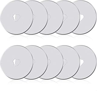 10Pcs 45mm Rotary Cutter Blades for Rotary Cutter, Rotary Cutter Replacement Blades Includes Plastic Blade Storage Case, R...