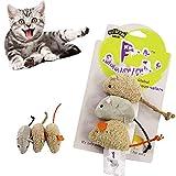 BTkviseQat Katzenspielzeug,Maus,Mäuse Spielzeug pielzeugmäuse Plüsch Katze Spielzeug,getränkt Katzenspielzeug -3er- Beutel