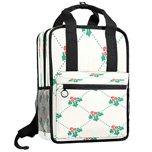 Mochila escolar de viaje bolsa de trabajo para mujeres y hombres estudiantes universitarios campana de Navidad