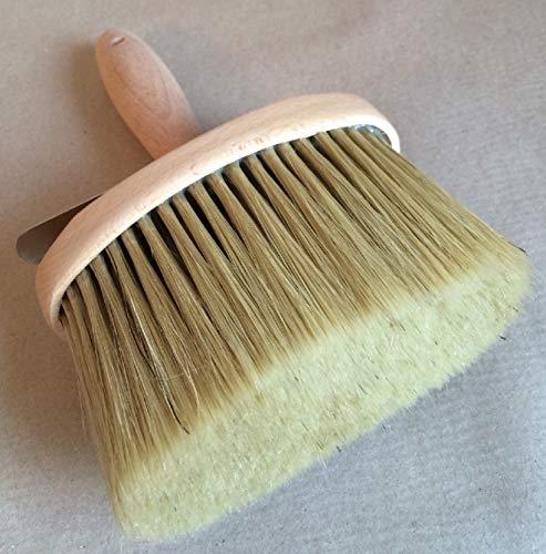 Profi Oval Bürste Streichbürste Lasurbürste Flächenstreicher 130x62mm, Malerbürste oval für Lasuren, Wandfarben und Fassadenfarbe