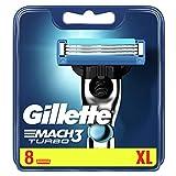 Gillette Match3 - Cuchillas de afeitar Turbo para hombre - 8 piezas