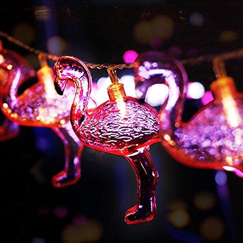 Flamingo String Lights 10LEDs Flamingo LED Night Lamp for Patio Garden Dorm Bedroom Wedding Party Christmas Decorations Pink