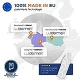 Widemex Exklusiver 5-Lagen Bügelbrettbezug inkl. 4 Spannclips | Bezugsgröße 115 x 35 cm (S) | Obermaterial widerstandsfähig und aus 100% Baumwolle | Made in Europe - 8