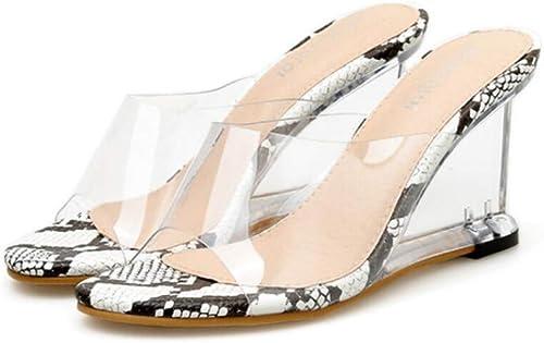 JQfashion Sandales à Talons Hauts pour Femmes Chaussures Chaussures Serpentine Muller Sexy avec Talons en Cristal Transparent  expédition rapide dans le monde entier