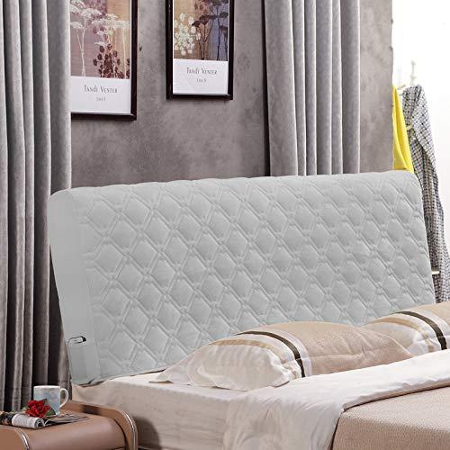 zyl Sänggavel skydd dubbelsäng sänggavel överdrag skydd med stretch dammtätt bomullsskydd för för tvilling/hel/kung sänggavel, grå-120 cm