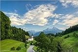 Poster 60 x 40 cm: Maria Gern und Watzmann in Berchtesgaden