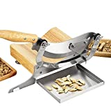 CGOLDENWALL Chinese Medicine Slicer Manual Radiused Biltong Slicer, with Magnetic Stainless Steel Tray, for Chinese Herbs, Biltong, Beef Jerky, Hard Fruits and Vegetables, Nougat