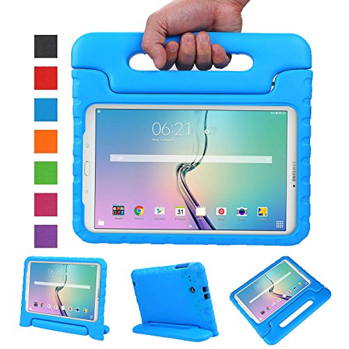 NEWSTYLE Tab E 9.6 Case - Shockproof Light Weight Protection Handle Stand Kids Case for Samsung Galaxy Tab E/Nook 9.6 Inch 2015 Tablet WiFi and Verizon 4G LTE Version (Blue) Not Fit Other Tablet