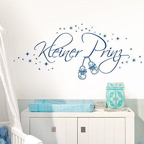 Wandaro Wandtattoo Kinder Sterne Kleiner Prinz I hellblau (BxH) 100 x 37 cm I Kinderzimmer Babyzimmer Jungen Aufkleber Wandsticker Wandaufkleber Buchstaben E034