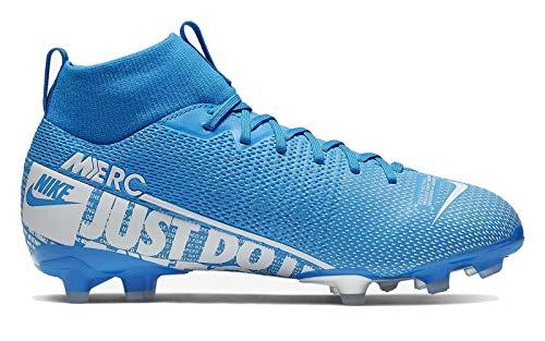 Nike JR Superfly 7 Academy FG/MG, Botas de fútbol Unisex niño, Multicolor (Blue Hero/White/Obsidian 414), 35 EU