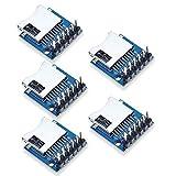 Aideepen 5個セットマイクロSDストレージ拡張ボードマイクロSDカードメモリシールドモジュールArduino ARM AVR用ピン付き