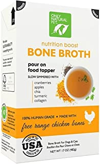 Only Natural Pet Human Grade Bone Broth Nutrition Boost