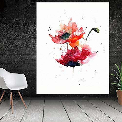 Neue chinesische 3D Lotus Leinwand Malerei dekorative Malerei Wandmalerei Druck Malerei Leinwand Malerei Wohnzimmer Poster rahmenlose Wohnkultur Malerei A95 30x40cm