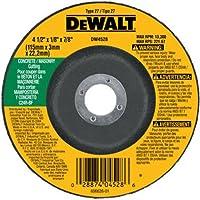 Dewalt DW4528 4-1/2 x 1/8 x 7/8 Inch Concrete/Masonry Cutting Wheel