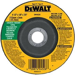 """DEWALT 4-1/2"""" Cut Off Wheel, Concrete/Masonry, 4-1/2"""" x 1/8"""" x 7/8"""" (DW4528)"""