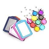 STOBOK Retractable Funda de Tarjeta de Identificación Funda Portatarjeta para Oficina Multicolor - 10 Piezas