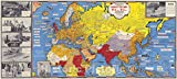 Historic Map - Dated Events Map of World War II Victory, 1945 - Vintage Wall Art - 24in x 11in