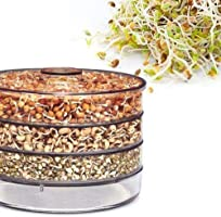 RUDRESHWAR 4 Layer Container Layer Bowl, Hygienic Sprout Maker with 4 Container Organic Home Making Fresh Sprouts Beans...