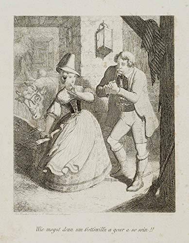 H. W. Fichter Kunsthandel: A. Hohenstein (um 1823) bei Kneller, Stuttg, Junge Sennerin, 1853