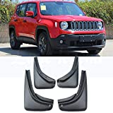 DHFBS Coche Guardabarros para Jeep Renegade BU 2014-2018, 4Pcs / Set Protectores...