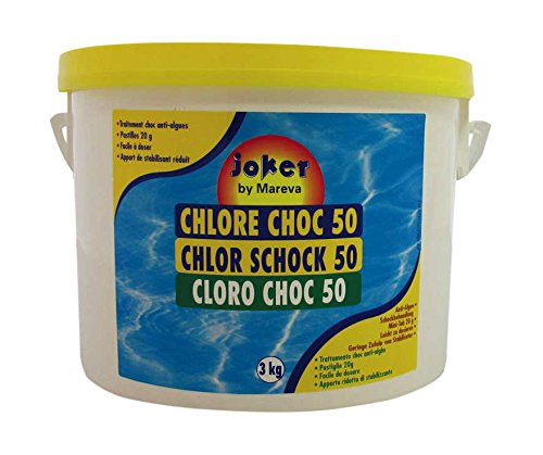 Mareva 05673 Chlore Choc 3 kg en Pastille 20 g Blanc