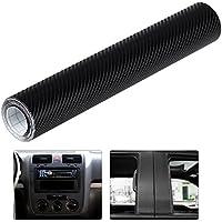 Pegatina para el coche de fibra de carbono en 4D en color negro, rollo de 30 x 300 cm, de la marca Winomo