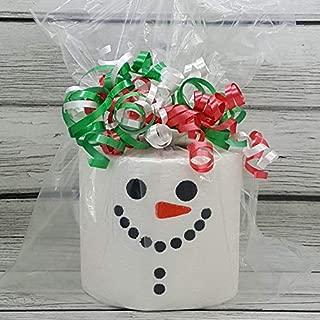 Snowman Christmas Embroidered Toilet Paper, Funny Joke Prank Gag Gift