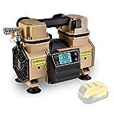 Tichop Portable Air Compressor, DC Power Air Compressor Compatible with Dewalt Li-ion Battery,oil free,quiet,car tire inflation pump,auto painting pump