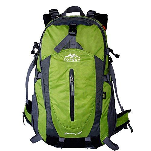 Topsky® Randonnée Escalade clycling Sac à dos EK207 Sac étanche Alpinisme Sac pour ordinateur portable toile sac bandoulière t33601 40l-50l Trekking Sac de voyage unisexe sac à dos multi couleurs vert Vert 40 l