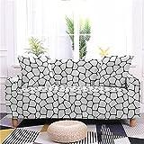 Funda de sofá elástica Piedras de Colores para sofá de 2 plazas Impresa Cubre Sofa Funda Ajustable Universal sofá Antideslizante Protector Cubierta de Muebles con 2 Funda de Cojín
