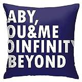 Ahdyr Throw Pillowcase Protectors to Infinity Beyond Square Funda de Almohada Funda de Almohada Throw Pillow Funda Sofá Cojín Cojín de Coche Decoraciones de Interior Silla Funda de Almohada