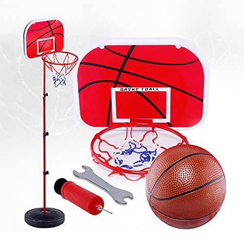 snowvirtuos Juego de canasta de baloncesto para interior y exterior, sin agujeros, 1,5 m, con barra de hierro elevable, para interior y exterior